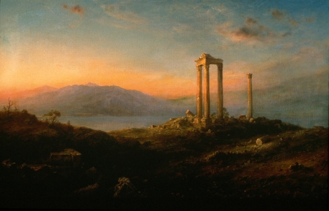 Frederic Church (1826-1900), Ruins at Baalbek, 1868, oil on canvas