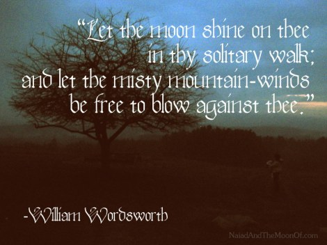 Wordsworth Quote by Naiad and the Moon of