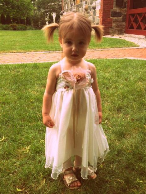 My little flower girl.