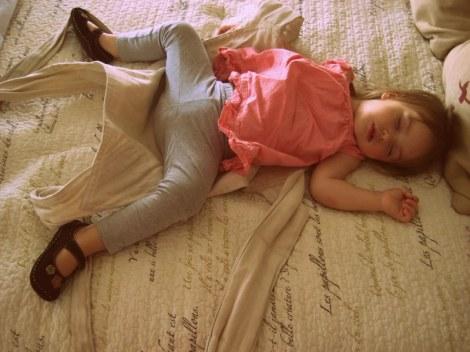 Fae's pre-wedding nap.