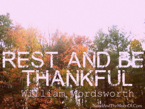 Wordsworth Quote on Being Thankful