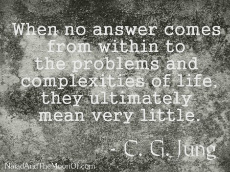 Jung quote complexities of life